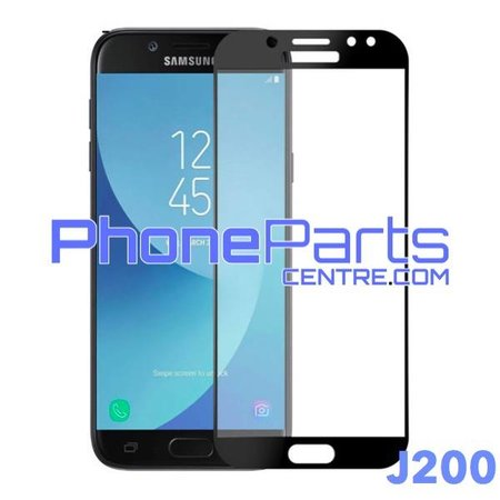 J200 5D tempered glass premium quality - no packing for Galaxy J2 (2015) - J200 (10 pcs)