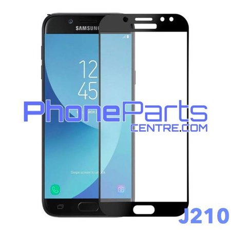 J210 5D tempered glass premium quality - no packing for Galaxy J2 (2016) - J210 (25 pcs)