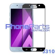 J310 5D tempered glass premium quality - no packing for Galaxy J3 (2015) - J310 (10 pcs)