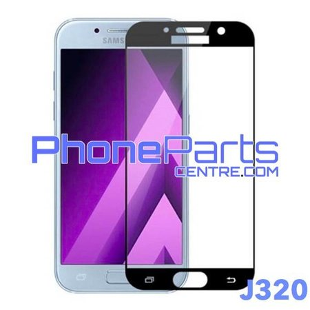 J320 5D tempered glass premium quality - no packing for Galaxy J3 (2016) - J320 (25 pcs)