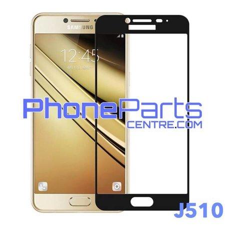J510 5D tempered glass premium quality - no packing for Galaxy J5 (2016) - J510 (25 pcs)