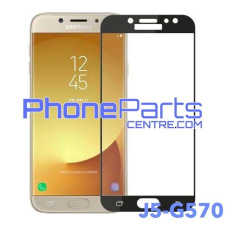 G570 5D tempered glass premium quality - no packing for Galaxy J5 Prime (2016) - G570 (10 pcs)
