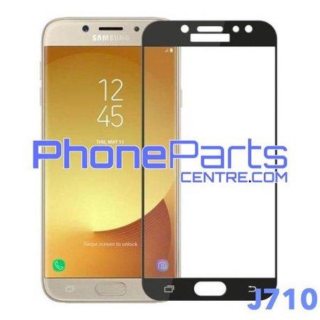 J710 5D tempered glass premium kwaliteit - zonder verpakking voor Galaxy J7 (2016) - J710 (10 stuks)