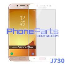 J730 5D tempered glass premium kwaliteit - zonder verpakking voor Galaxy J7 Pro (2017) - J730 (25 stuks)