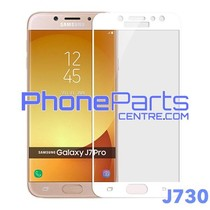 J730 5D tempered glass premium quality - no packing for Galaxy J7 Pro (2017) - J730 (25 pcs)