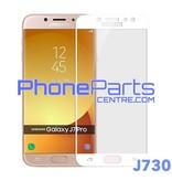 J730 5D tempered glass premium quality - no packing for Galaxy J7 Pro (2017) - J730 (10 pcs)