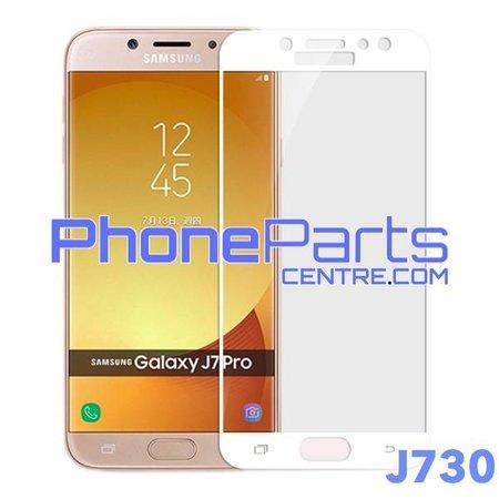 J730 5D tempered glass premium kwaliteit - zonder verpakking voor Galaxy J7 Pro (2017) - J730 (10 stuks)