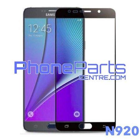 N920 5D tempered glass premium kwaliteit - zonder verpakking voor Galaxy Note 5 (2015) - N920 (10 stuks)