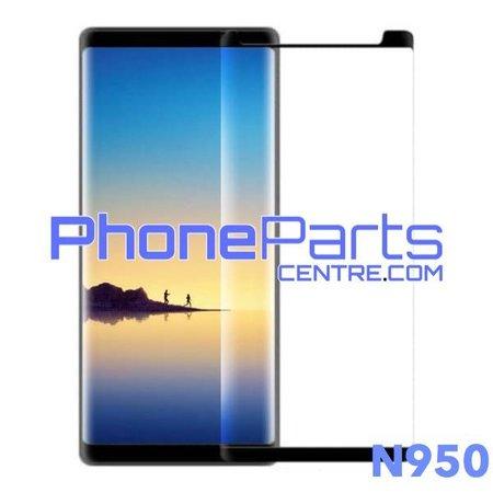 N950 5D tempered glass - winkelverpakking voor Galaxy Note 8 - N950 (10 stuks)