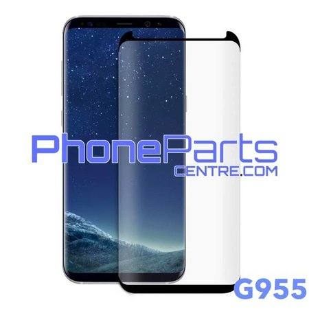 G955 5D tempered glass premium quality - no packing for Galaxy S8 Plus (2017) - G955 (10 pcs)
