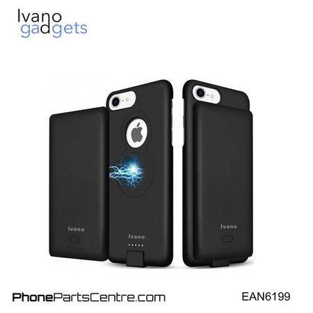 Ivano Ivano Magnetisch Batterij Hoesje voor iPhone 6 6S 7 and 8 - 4.000 mAh (2 stuks)