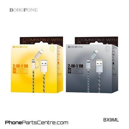 Borofone Borofone Micro-USB Kabel + Lighting BX9ML (20 stuks)