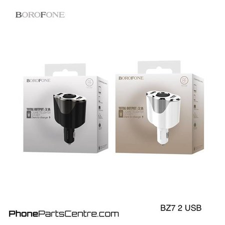 Borofone Borofone Car Charger 2 USB BZ7 (10 pcs)