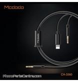 Mcdodo Mcdodo 2-in-1 3.5mm Jack AUX Kabel naar Lightning + 3.5mm Jack AUX CA-3360 1.2m (5 stuks)