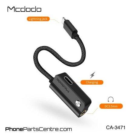 Mcdodo Mcdodo 2-in-1 Lightning Kabel naar 3.5mm Jack AUX + Lightning CA-3471 (5 stuks)