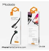 Mcdodo Mcdodo 90 Graden met LED Lightning Kabel - CA-5381 1.8m (10 stuks)