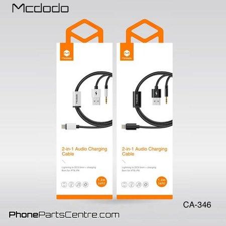 Mcdodo Mcdodo 2-in-1 Lightning Kabel naar 3.5mm Jack AUX + USB CA-3461 1.2m (5 stuks)