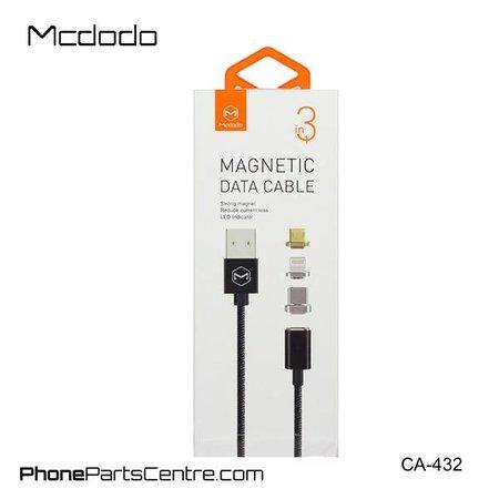 Mcdodo Mcdodo Magnetische Lightning Kabel + Micro-USB + Type C - CA-4321 1.2m (2 stuks)