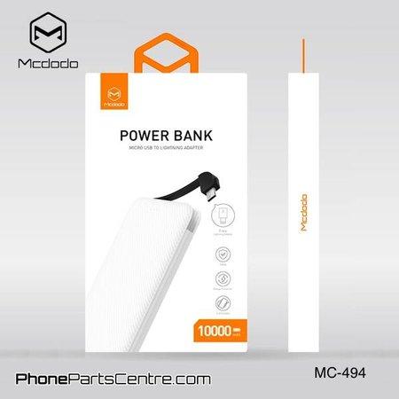 Mcdodo Mcdodo Powerbank Integrated Cable 10.000 mAh - Excelle series MC-4941 (2 pcs)