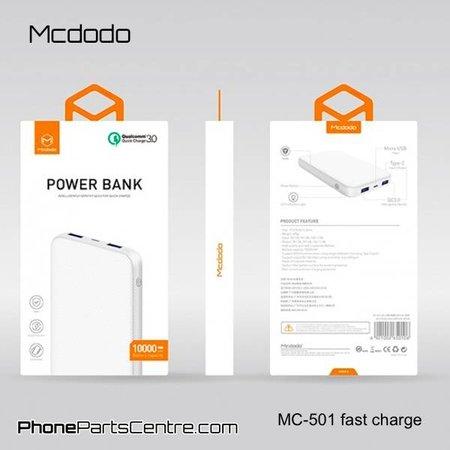 Mcdodo Mcdodo Powerbank Type C QC 3.0 10.000 mAh - Excelle series MC-5013 (2 stuks)