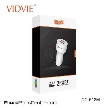 Vidvie Autolader Micro-USB Kabel 2 USB CC-512M (10 stuks)