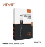 Vidvie Lightning Kabel 1.2 meter CB-433L (10 stuks)