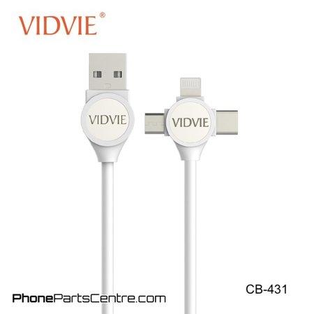 Vidvie  3 in 1 Lightning Kabel + Micro-USB + Type C CB-431 (10 stuks)