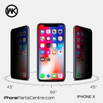WK King Kong 5D Privacy glass iPhone X (5 pcs)