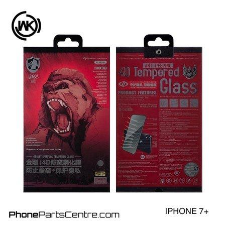 WK WK King Kong 4D Privacy glass iPhone 7 Plus (5 pcs)