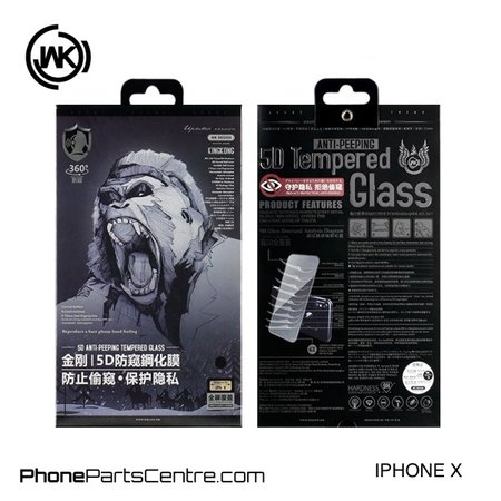 WK WK King Kong 5D Privacy Scherm iPhone X (5 stuks)