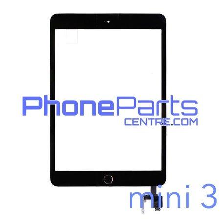 Touchscreen / glazen voorkant / home button voor iPad mini 3 (2 stuks)