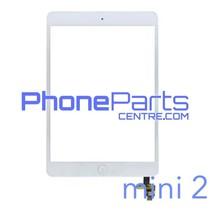 Touchscreen / glazen voorkant / home button voor iPad mini 2 (2 stuks)