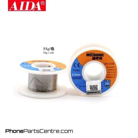 Aida Aida HX-T100 Solder Wire 0.3 mm x 55 gram (5 stuks)