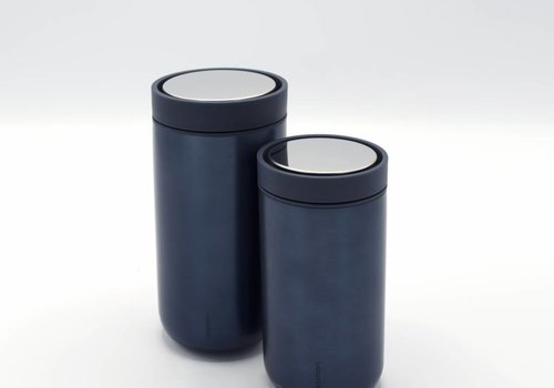 Stelton Stelton to-go-click thermosbeker (metallic blauw)