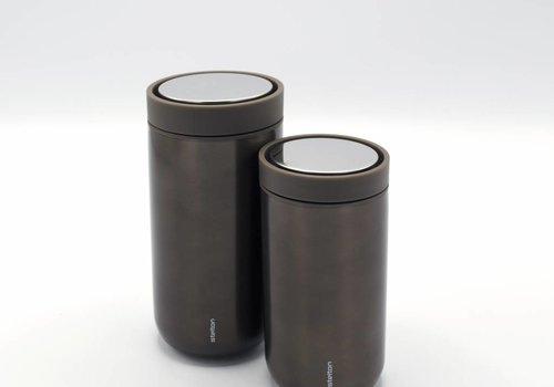 Stelton Stelton to-go-click thermosbeker (metallic bruin)