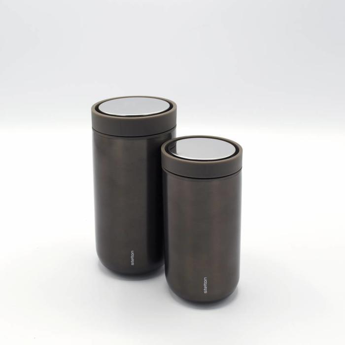 Stelton to-go-click thermosbeker (metallic bruin)
