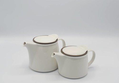 Kinto Brim Tea Pot: Wit