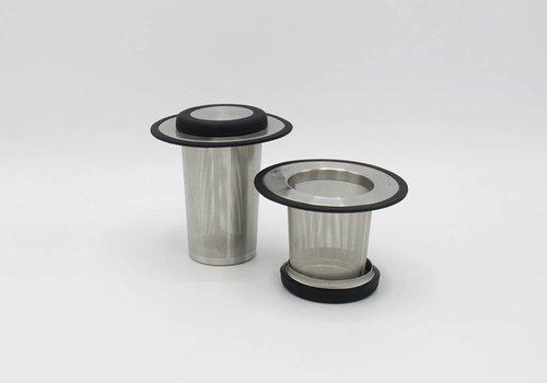 Bredemeijer universal theefilter met onderzet - Staal/Plastiek