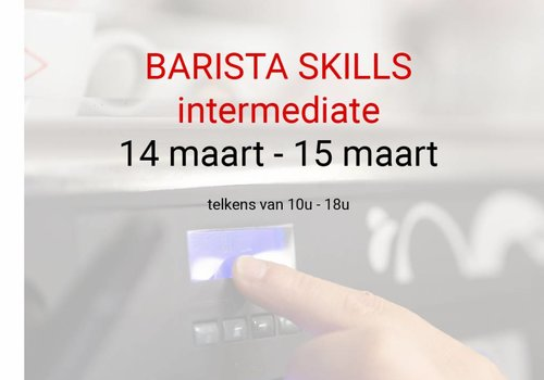 Cuperus Barista Skills Intermediate 14 and 15 march