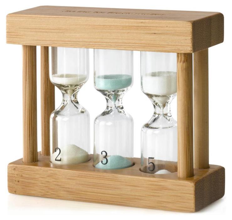 Universele thee timer 3 tijden (Bamboe)