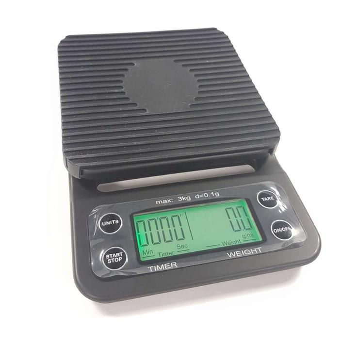 Barista scale met timer