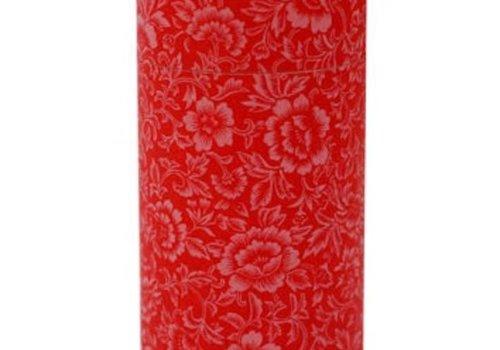 Kotodo Kotodo theeblik bloemenmotief (rood)
