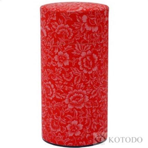 Kotodo theeblik bloemenmotief (rood)