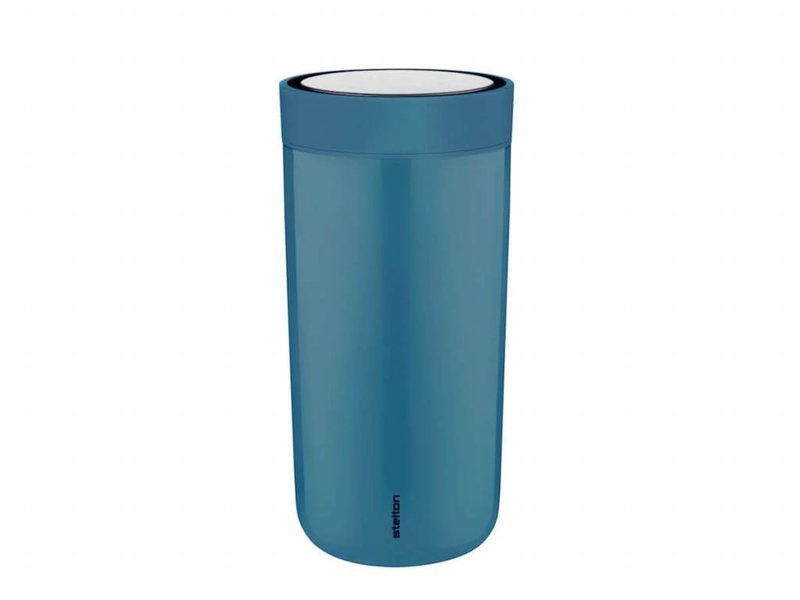 Stelton to-go-click thermosbeker (dusty blue)