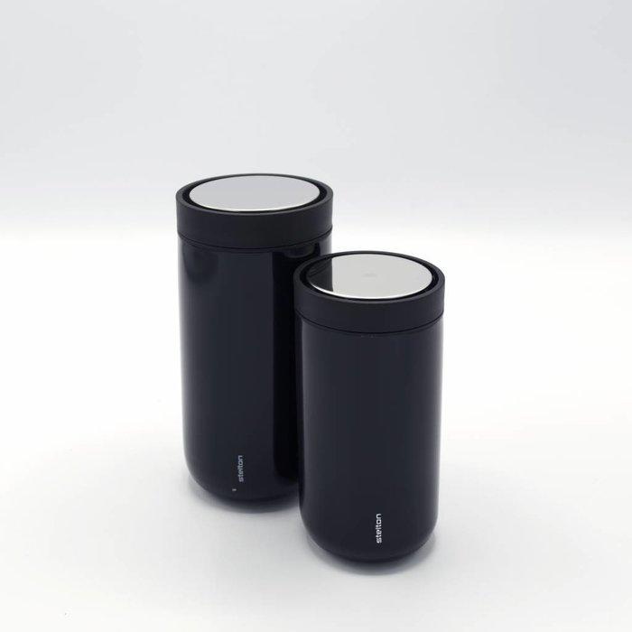 Stelton to-go-click thermosbeker (metallic zwart)