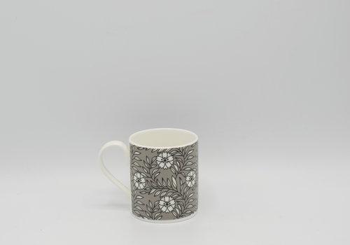 Roy Kirkham Roy Kirkham - Primrose Bordier tas met bloemen (Grijs)