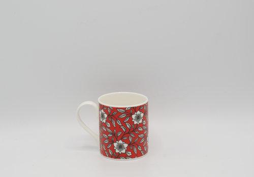 Roy Kirkham Roy Kirkham - Primrose Bordier tas met bloemen (Rood)