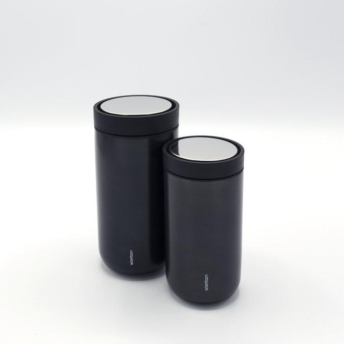 Stelton to-go-click thermosbeker (zwart)