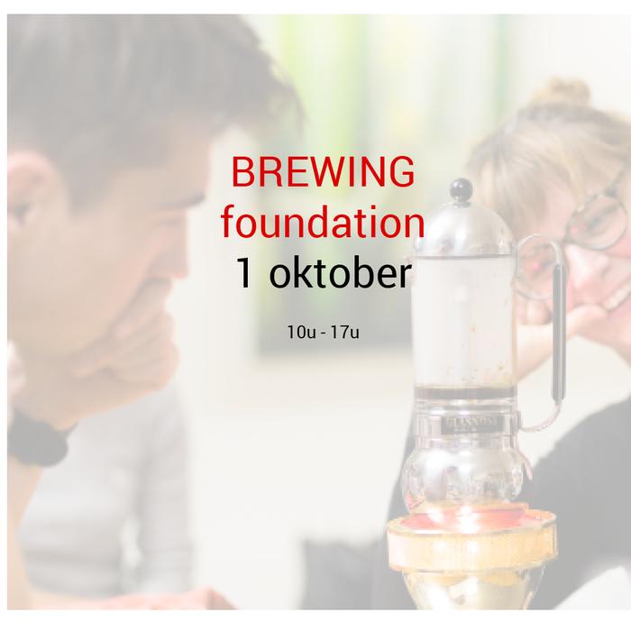 Brewing foundation: 1 oktober - 10u tot 17u