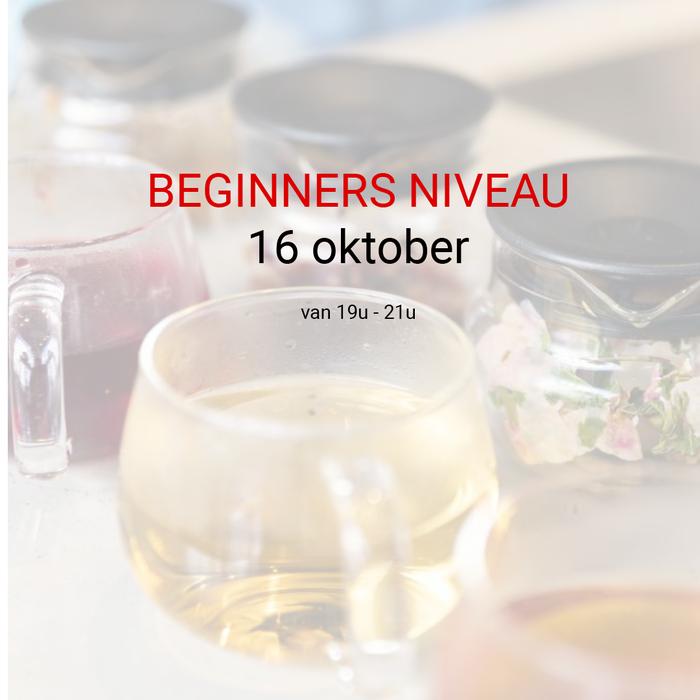 Beginners niveau: 16 oktober van 19u tot 21u